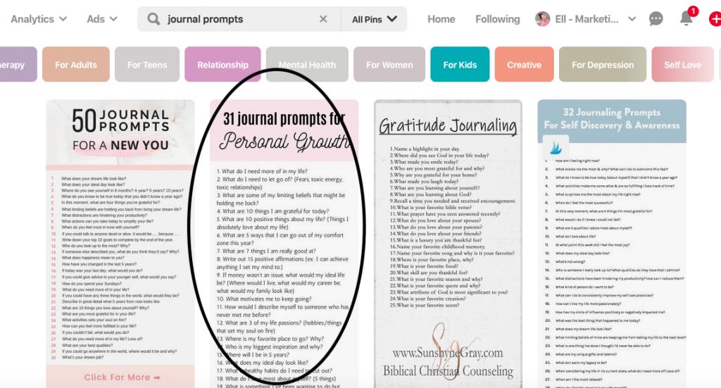 Pinterest e-course