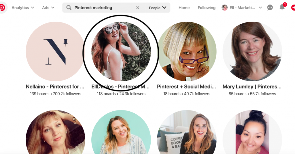 Pinterest with Ell e-course