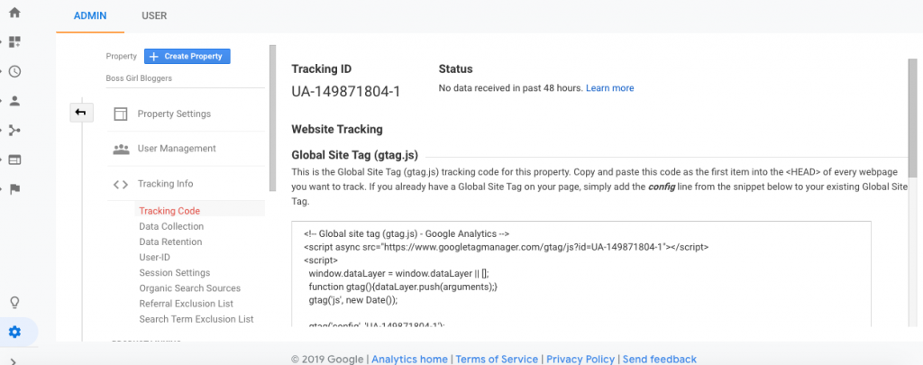 How to start a blog and set up google analytics.