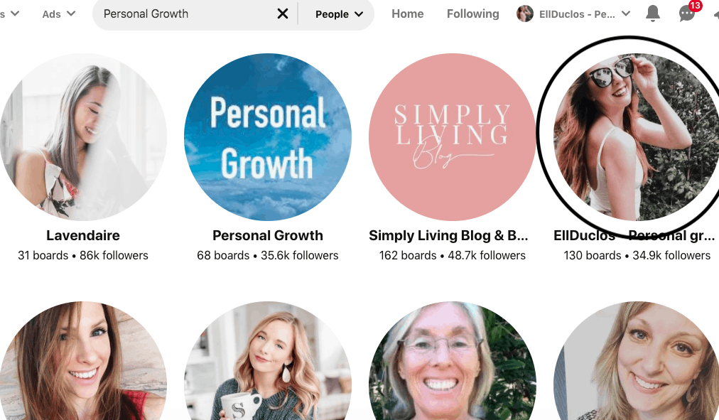 How to grow your blog using Pinterest with Ell