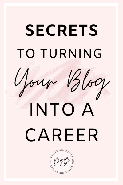 The secrets to turning your blog into a full time job.