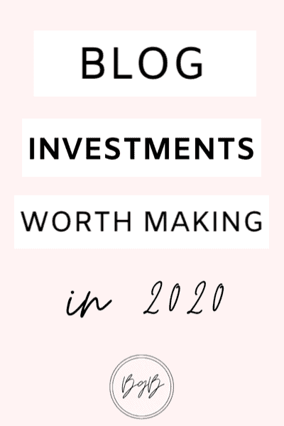 Blog investments worth making. The best blogging resources to grow your blog.