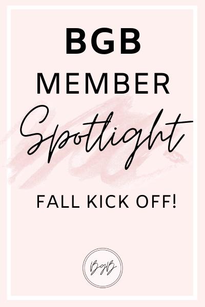 BGB member spotlight - fall kick off