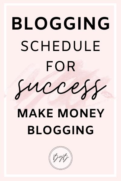 Blogging schedule for success.
