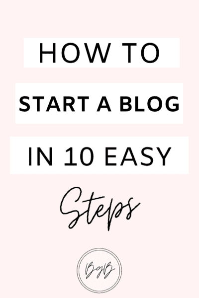How to start a blog, 10 easy steps to help you start a blog.
