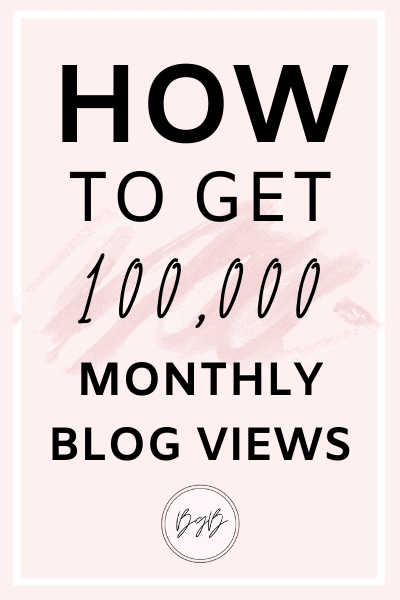 How to get 100,000 blog views every month