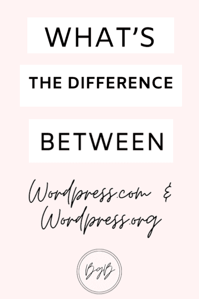 What is the difference between wordpress.com and wordpress.org