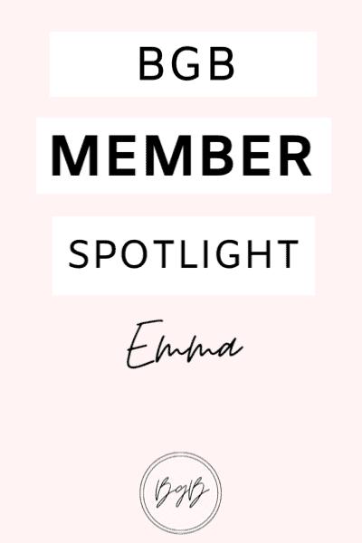 BGB member spotlight - Emma