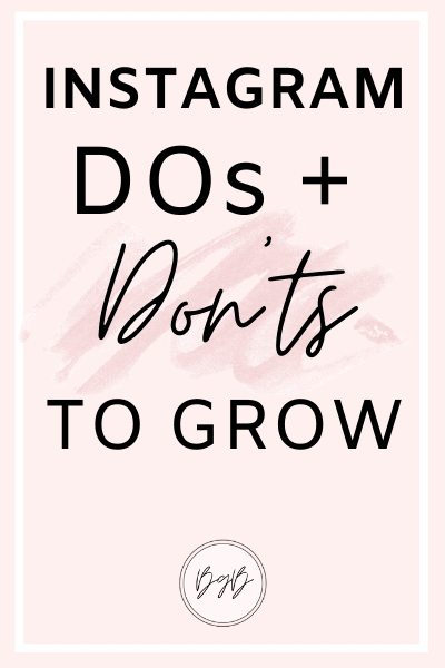 Instagram dos and don'ts to help you grow