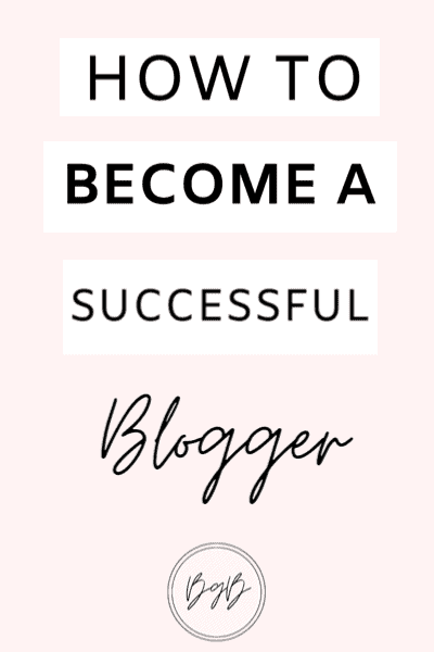 How to become a successful blogger