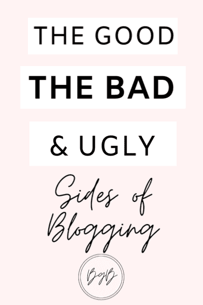 The good, the bad, and the ugly sides of blogging