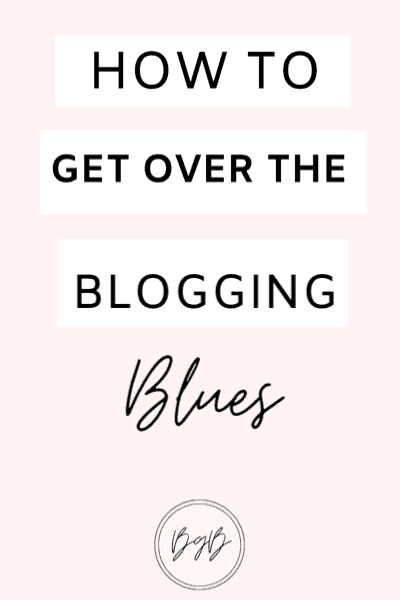 How to get over the blogging blues. Find your blogging motivation