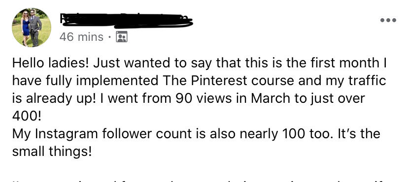 Pinterest with Ell course review