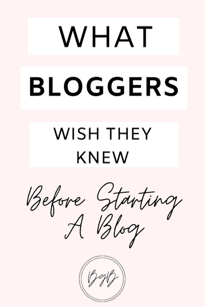 What bloggers wish they knew before starting a blog