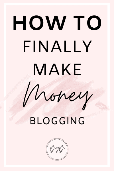 How to make money blogging and turn your blog into a career. The best step by step guide to making your first $1,000 from your blog.