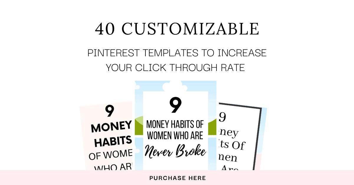 Grab 40 customizable Pinterest Templates