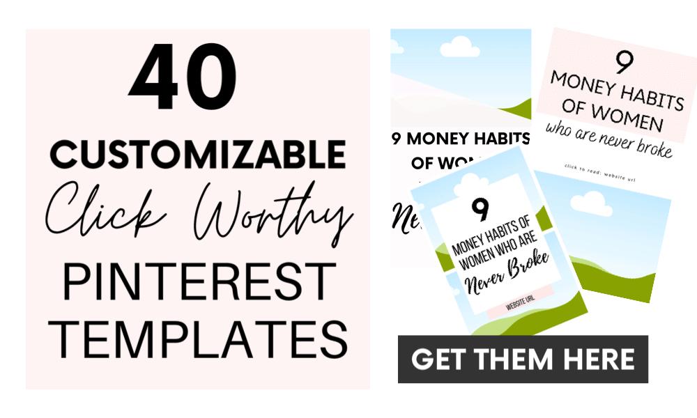 40 Customizable Pinterest Templates