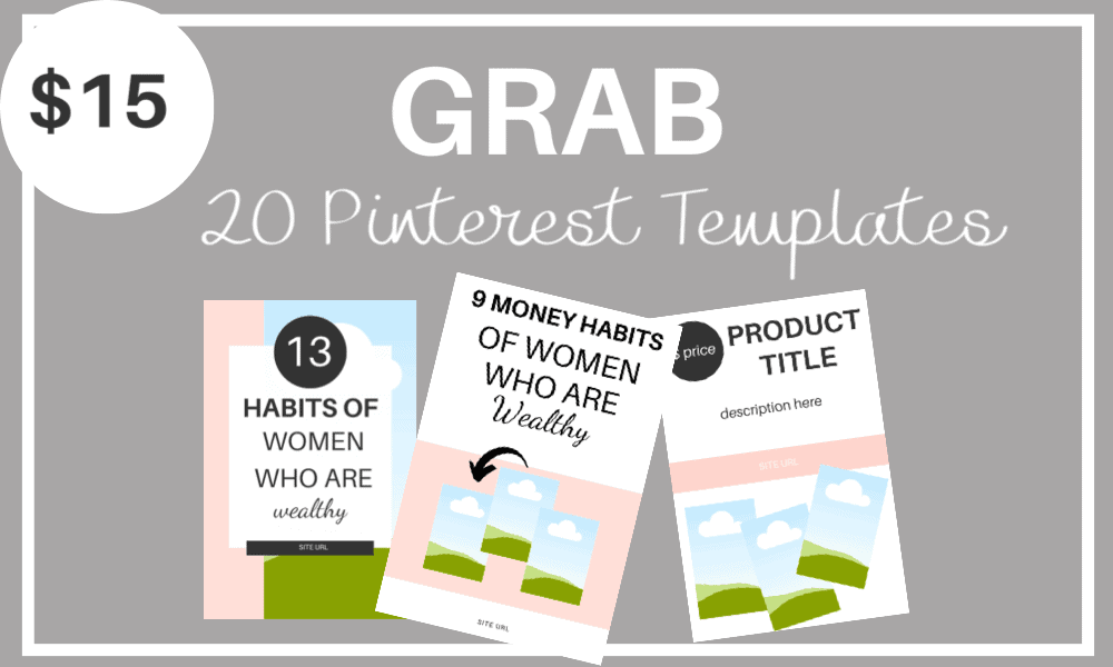 20 customizable Pinterest templates for canva