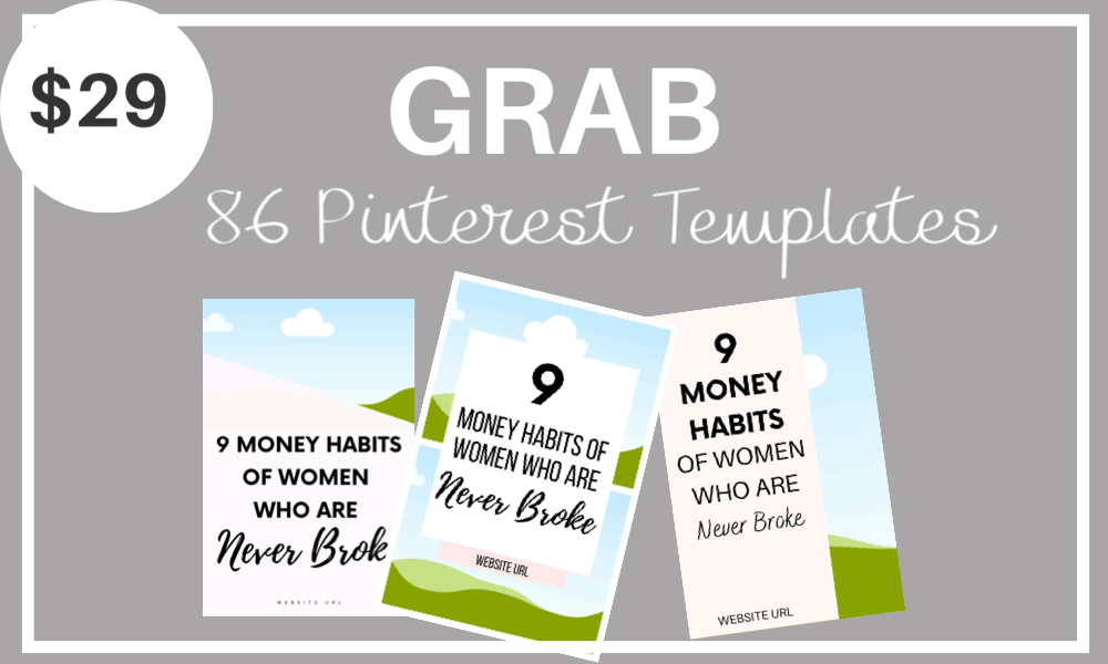 86 Customizable Pinterest Pin Templates