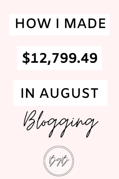 Blog income report for August. How I made over $12,000 blogging in one month.