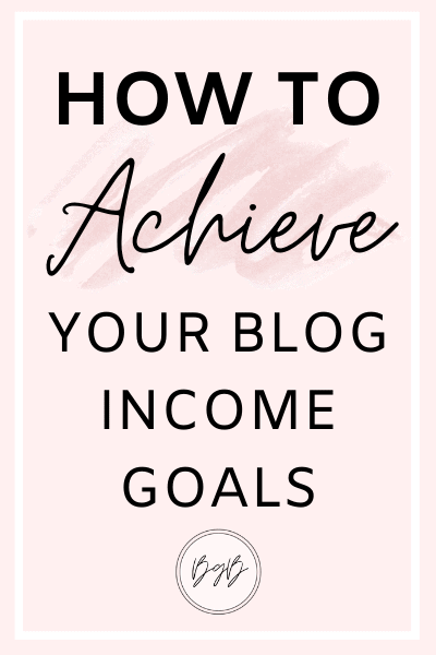 How to set and achieve your blog income goals. The steps I took to double my blog income.