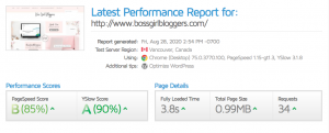 blog income expenses - site speed