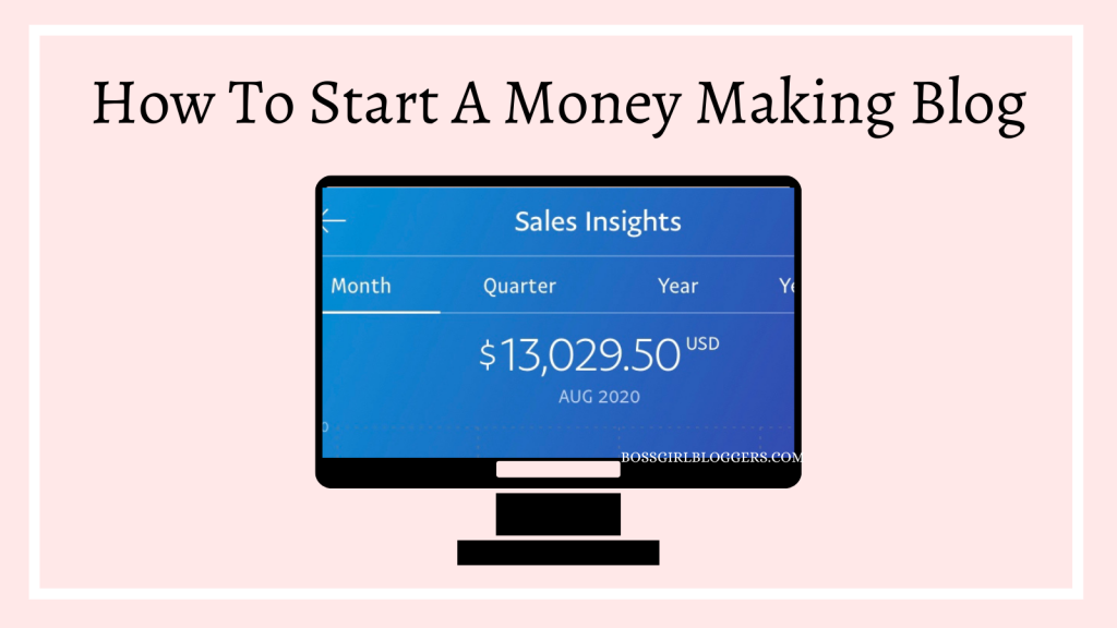 How to start a money making blog, step by step!